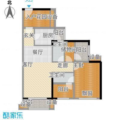 龙光海悦华庭89.13㎡2栋2单元01室户型