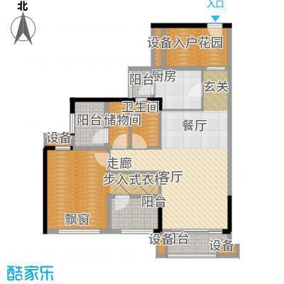 龙光海悦华庭88.86㎡1栋1单元0、1栋2单元03室户型