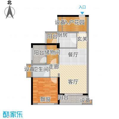 龙光海悦华庭78.65㎡2栋2单元01室户型