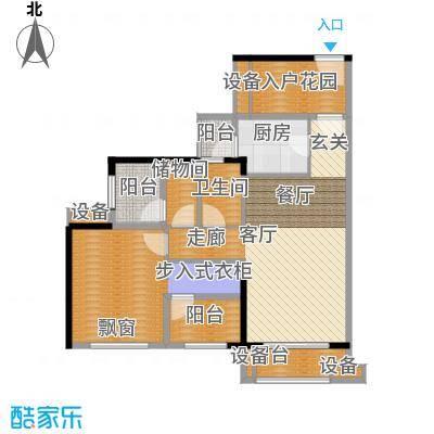 龙光海悦华庭89.17㎡2栋1单元01室户型