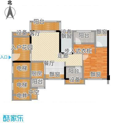 龙光海悦华庭88.03㎡1栋1单元0、1栋2单元03室户型