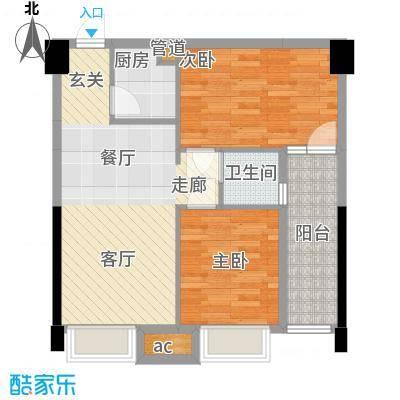 卓越时代广场68.46㎡B4户型