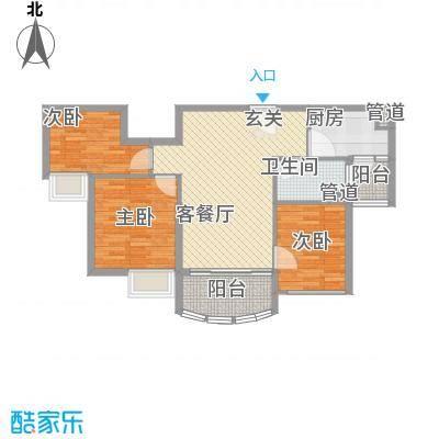 福鼎碧桂园91.00㎡J582-B户型