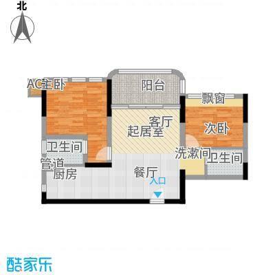 碧桂园金海湾73.77㎡J533-B户型