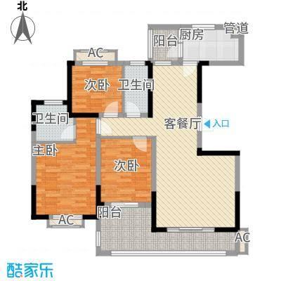 广弘城国际社区128.00㎡C户型