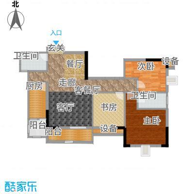 晋愉九龙湾92.14㎡A2(二期)面积9214m户型