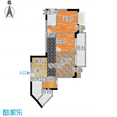 晋愉九龙湾76.20㎡D1(二期)面积7620m户型
