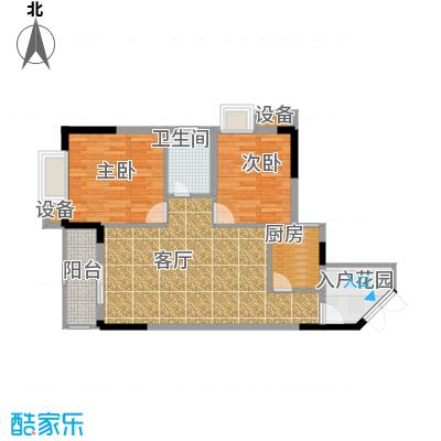 晋愉九龙湾68.35㎡C1(二期)面积6835m户型