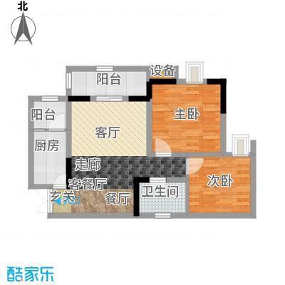 晋愉九龙湾60.89㎡6号楼A、D面积6089m户型