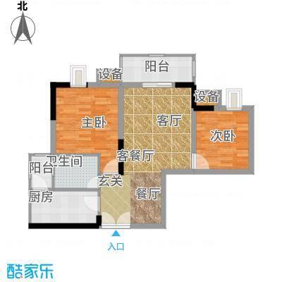 晋愉九龙湾65.72㎡6号楼C1、C2户面积6572m户型