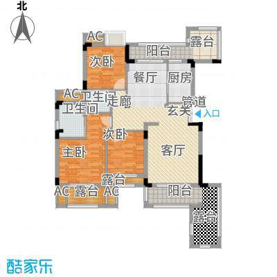 奥园水云间86.29㎡一期所有楼栋标准层A3-1户型