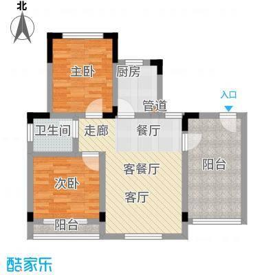 仙女山1号国际休闲度假区55.31㎡一期8号楼标准层C户型