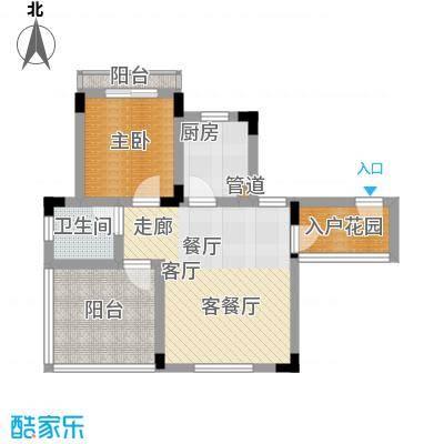 仙女山1号国际休闲度假区43.61㎡一期8号楼标准层B户型