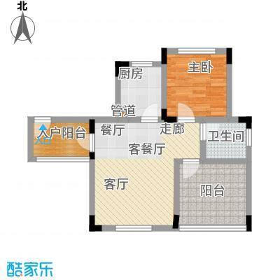 仙女山1号国际休闲度假区42.00㎡一期6号楼标准层A户型
