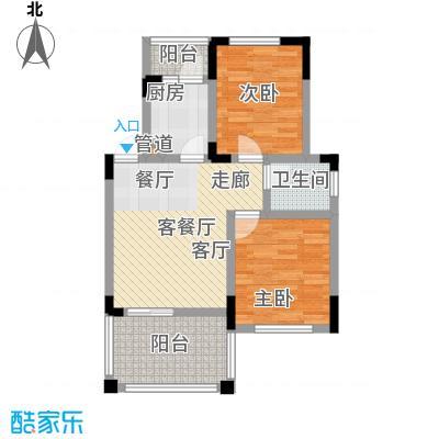 仙女山1号国际休闲度假区52.38㎡一期8号楼标准层B户型