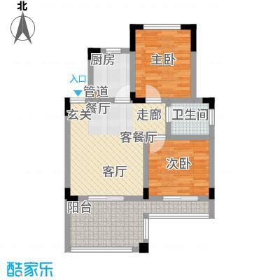 仙女山1号国际休闲度假区52.00㎡一期6号楼标准层B户型