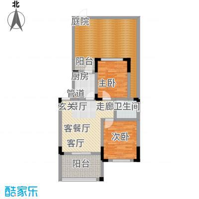 仙女山1号国际休闲度假区57.00㎡一期6号楼标准层C户型