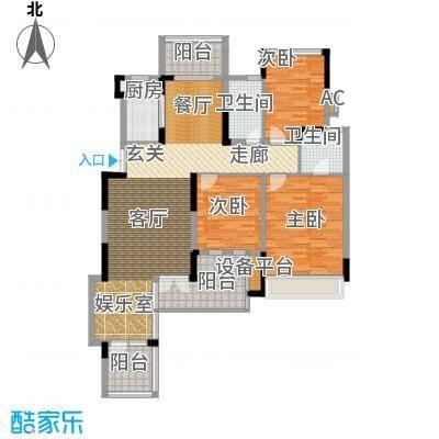 半山七号111.57㎡二期3号楼1-3单元3楼D4号房3室户型