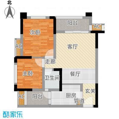 半山七号65.69㎡一期1号楼标准层A1户型
