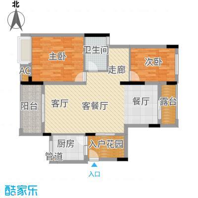 金科开州财富中心137.61㎡一期1号楼标准层B-07户型