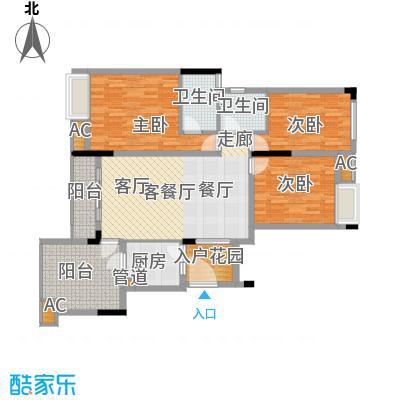 金科开州财富中心116.21㎡一期1号楼标准层B-03户型