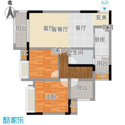金科开州财富中心101.90㎡一期4号楼标准层D6跃上层户型