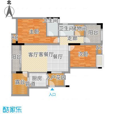 金科开州财富中心107.35㎡一期1号楼标准层B-05户型