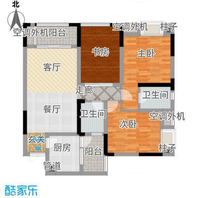 润丰水尚观景台高层组团90.00㎡二期35号楼标准层C6户型