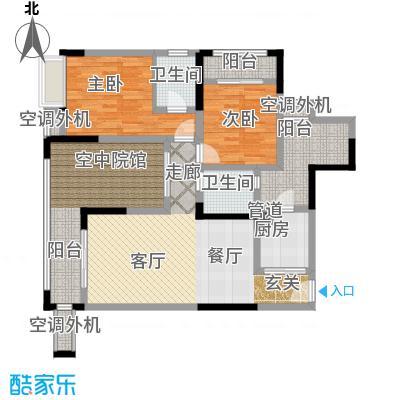 润丰水尚观景台高层组团92.00㎡二期15号楼标准层6号房/16号楼标准层1号房户型
