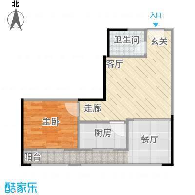 娄山关梦里水乡55.16㎡一期4-5号楼A6户型