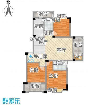 志城江山郡111.20㎡一期标准层E-2户型