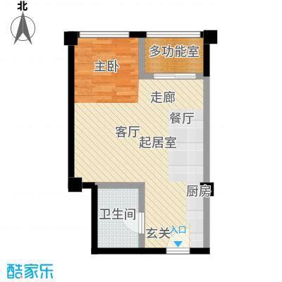 盛景广场49.83㎡公寓C户型