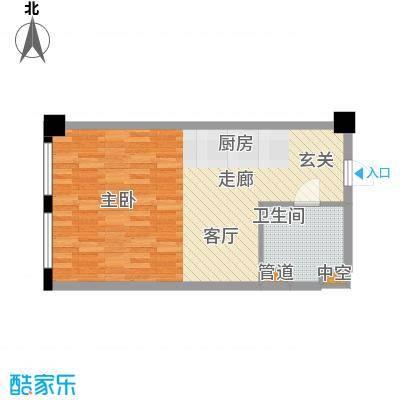 玖龙时代48.66㎡B户型