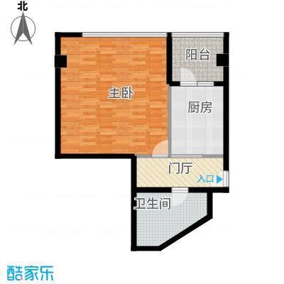 东壹号66.92㎡一期E居之家户型