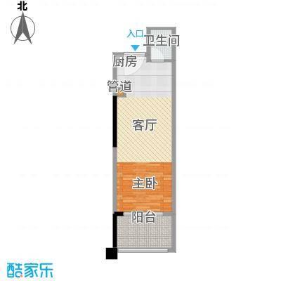 太平湖金龙岛51.24㎡公寓A户型