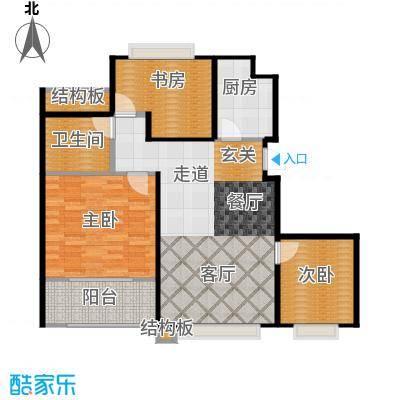 温哥华城时代公寓90.00㎡温哥华城・时代公寓90平面图户型