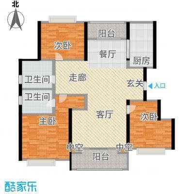 温哥华城时代公寓120.00㎡温哥华城・时代公寓120平面图户型