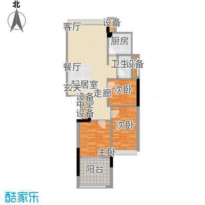 锦绣江南94.33㎡1幢5-17层07户型
