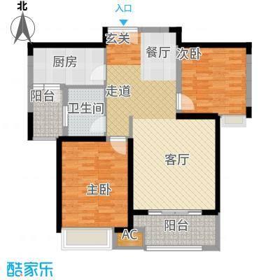 淮矿东方蓝海87.00㎡A2户型