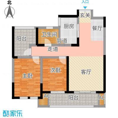 淮矿东方蓝海97.00㎡B1户型