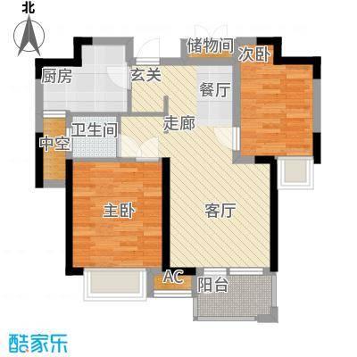 荣盛云龙观邸75.00㎡B5#南户户型