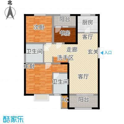 荣盛云龙观邸127.00㎡c2/c3南户户型
