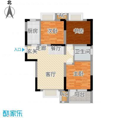 荣盛云龙观邸102.00㎡B5#东户户型