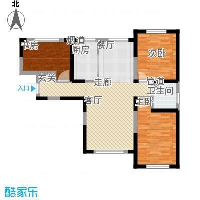 华茂中心98.00㎡央府高层户型