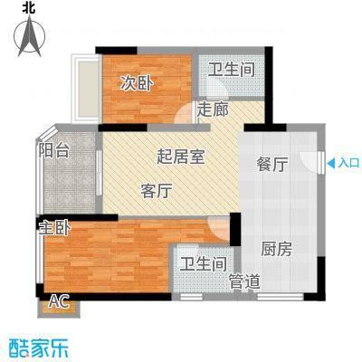 碧桂园金海湾73.77㎡J535-B户型