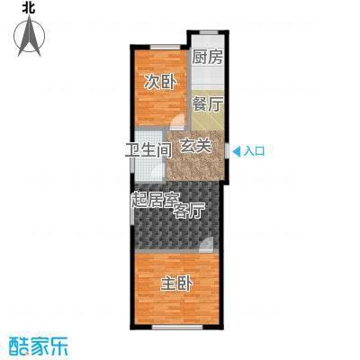 森晟江湾馨城96.19㎡6号楼标准层户型