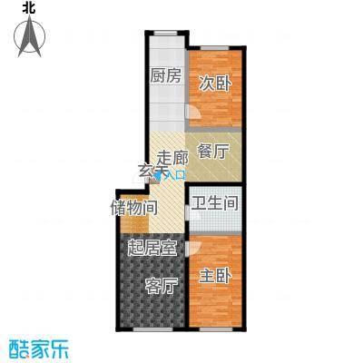 森晟江湾馨城116.27㎡6号楼标准层户型