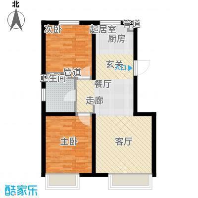 江山印象94.94㎡一期2号楼1-22层3号楼1-25层D户型