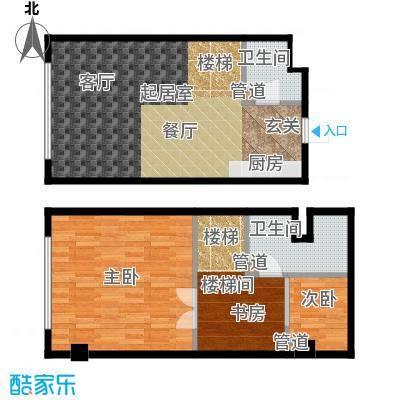 森晟江湾馨城64.00㎡9号楼小复式标准层D户型
