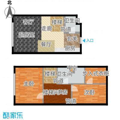 森晟江湾馨城61.00㎡9号楼小复式标准层B户型